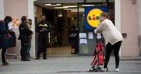 Un supermercado Lidl durante el estado de alarma / EUROPA PRESS