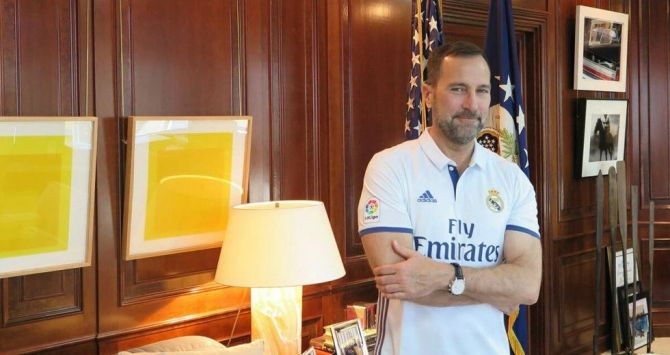 Jaime Costos con la camiseta del Real Madrid